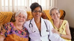 Elderly women in geriatric hospice