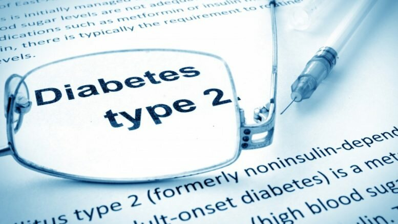 Diabetes type 2 on a paper